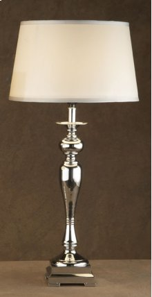 Tall Champagne Fluted/Chrome Lamp