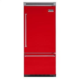 """Racing Red 36"""" Quiet Cool™ Bottom-Mount Refrigerator/Freezer - VIBB Tru-Flush™ (Right Hinge Door)"""