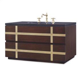 Thompson Wall Sink Chest - Dark Walnut