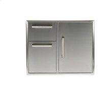 "31"" Combination Storage: Door and Drawers Cabinet"