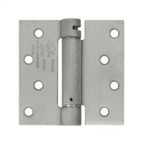 """4""""x 4"""" Spring Hinge, UL Listed - Brushed Stainless"""