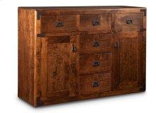 Saratoga Sideboard w/2 Wood Doors & 6/Dwrs & 2/Wood Adjust.