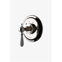 Julia Thermostatic Control Valve Trim with White Porcelain Lever Handle STYLE: JUTH61