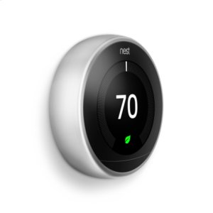 Nest Learning Thermostat - 3rd generation, Stainless Steel: 2 pack