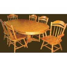 Wood Edge Double Pedestal Table