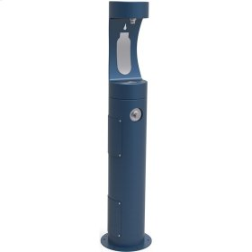 Elkay Outdoor ezH2O Bottle Filling Station Pedestal, Non-Filtered Non-Refrigerated Freeze Resistant Blue