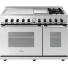 "Range NEXT 48"" Classic Stainless steel 4 induction, griddle, 2 gas and 2 gas ovens Product Image"