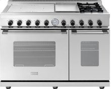 "Range NEXT 48"" Classic Stainless steel 4 induction, griddle, 2 gas and 2 gas ovens"