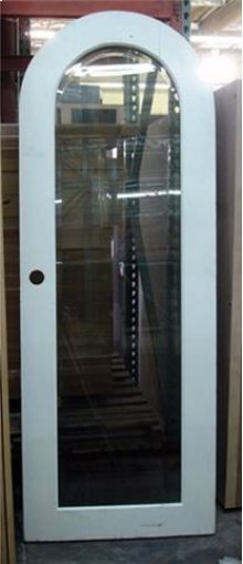 Wood and Glass Arch Door - Old Stock (CALL FOR FREIGHT QUOTE)