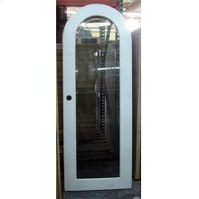 Wood and Glass Arch Door - Old Stock