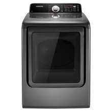 7.3 cu. ft. King-size Capacity Gas Front Load Dryer (Stainless Platinum)