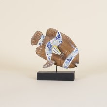 Wooden Mosaic Fish On Stand
