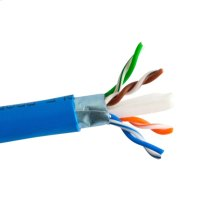 Cat6 Shielded- Enhanced 550 Mhz 23 Awg Solid Bc, 4pr, F/utp, Ansi/tia 568-C.2, Iec 22801 Class E, Ul Cmr, En50575:2014 Eca, Pvc Jkt- Blue- 1000 Ft/305m Spool
