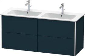Vanity Unit Wall-mounted, Night Blue Satin Matt Lacquer