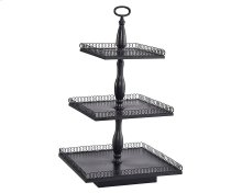 Black Metal 3-Tier Petal Stand