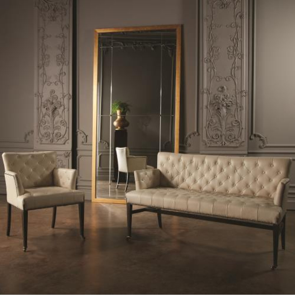 Chester Chair-Ivory Marble Leather