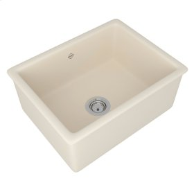 Parchment Shaws Classic 600 Single Bowl Inset Or Undermount Fireclay Secondary Kitchen Or Laundry Sink