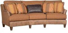Melrose Leather/Fabric Conversation Sofa