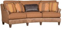 Melrose Leather/Fabric Conversation Sofa