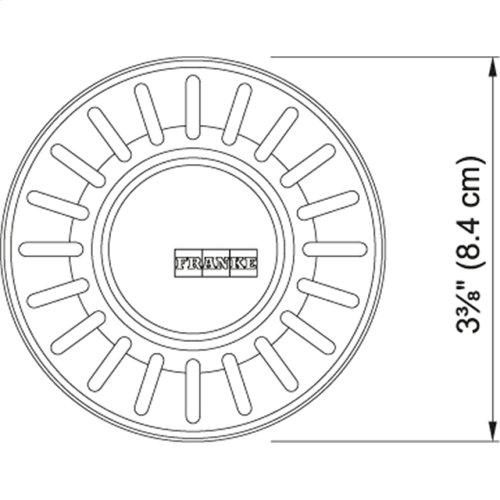 Waste Basket Strainers Plug Satin Nickel