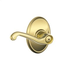 Flair Lever with Wakefield trim Bed & Bath Lock - Bright Brass