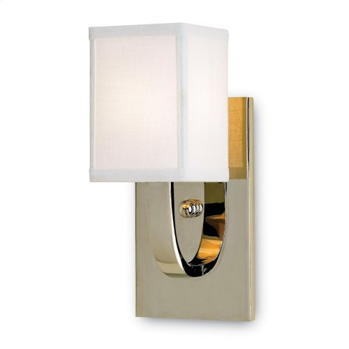 Sadler Nickel Wall Sconce