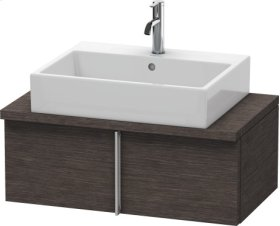 Vero Vanity Unit For Console Compact, Brushed Dark Oak (real Wood Veneer)