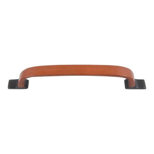 Hamptons Saddle Leather Pull 6 5/16 Inch (c-c) - Aged Bronze