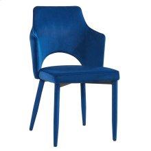 Aquila Navy Velvet Chair