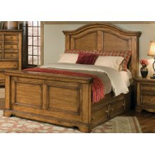 Rustic Queen Bed, Available In King or Queen Sizes
