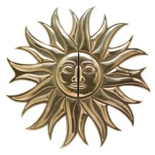 """SUN MEDALLION PULL (G2636) - 34 3/4"""" Silicon Bronze Brushed"""