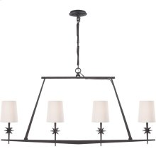 Visual Comfort S5316BR-NP Ian K. Fowler Etoile 4 Light 48 inch Blackened Rust Linear Pendant Ceiling Light