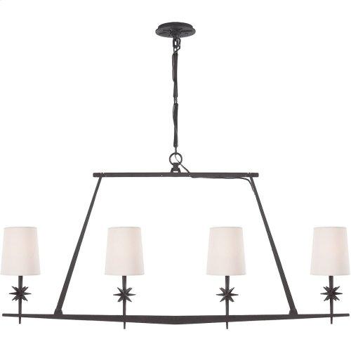 Visual Comfort S5316BR-NP Ian K. Fowler Etoile 4 Light 48 inch Blackened Rust Linear Pendant Ceiling Light