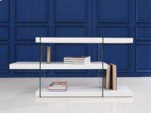 The Il Vetro High Gloss White Lacquer Bookcase