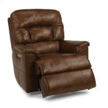 Great Escape Leather Power Gliding Recliner with Power Headrest