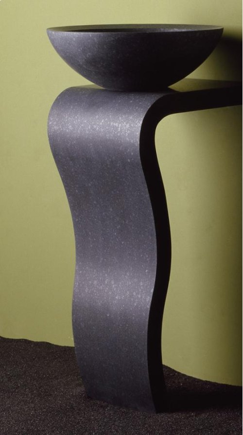 Wave Pedestal Honed Basalt