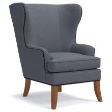 Moscato Premier Stationary Occasional Chair w/ Brass Nail Head Trim