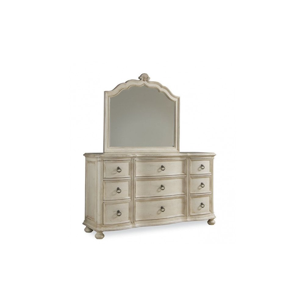 Provenance Triple Dresser with Bun Foot - Linen