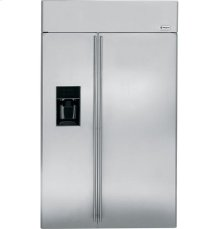 "GE Monogram® 48"" Built-In Side-by-Side Refrigerator with Dispenser"