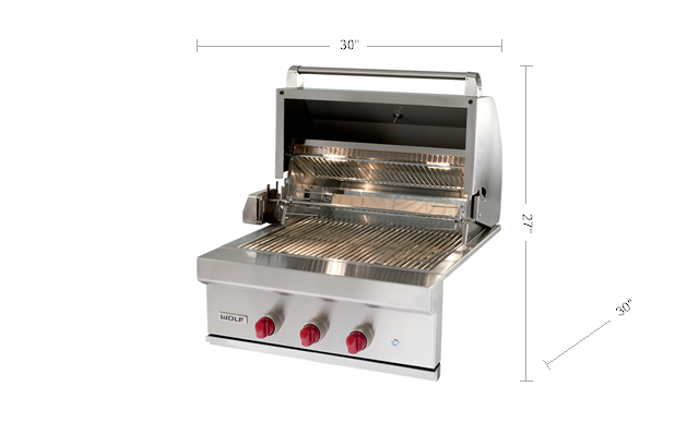 """Wolf30"""" Outdoor Gas Grill"""