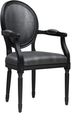 Philip Grey Croc Arm Chair Product Image