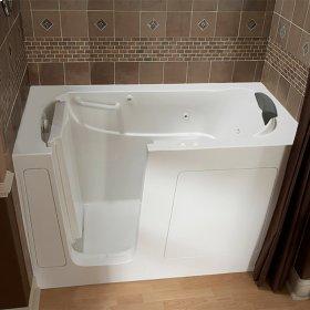 Premium Series 30x60 Combo Massage Walk-in Tub, Left Drain  American Standard - White