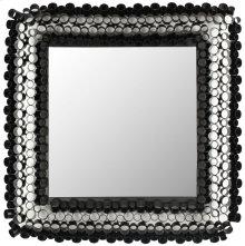 Square Tube Mirror - Black Powder Coated