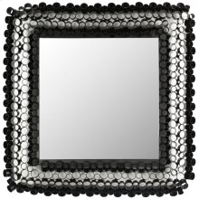 Square Tube Mirror - Black Powder Coated