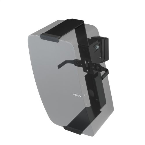 Black- Secure and adjustable wall mount.