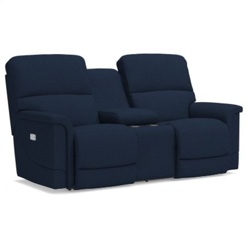 Oscar PowerRecline La-Z-Time® Full Reclining Loveseat w/ Console and Power Headrest