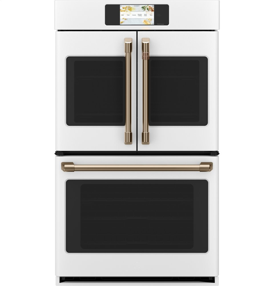 """Cafe AppliancesCaf(eback) Professional Series 30"""" Smart Built-In Convection French-Door Double Wall Oven"""