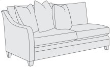 Sorenson Left Arm Loveseat in Mocha (751)