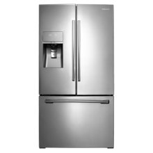 """36"""" Wide, 31 cu. ft. French Door Refrigerator, with Dual Ice Maker (Stainless Steel)"""