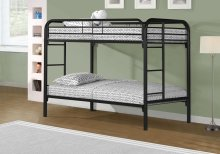 BUNK BED - TWIN / TWIN SIZE / BLACK METAL